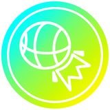 A creative basketball sports circular in cold gradient spectrum. An original creative basketball sports circular in cold gradient spectrum royalty free illustration