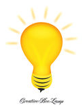 Creative bee lamp logo design Stock Image