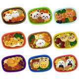Creative bento for kids. A vector illustration of creative bento for kids Stock Images