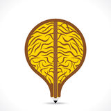 Creative big brain design in pencil make bulb shape design Royalty Free Stock Photos