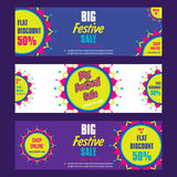 Creative big festive sale design. Creative big festive banner design ,diwali festival offer Stock Images