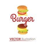 Creative Big Hamburger Logo Royalty Free Stock Photography