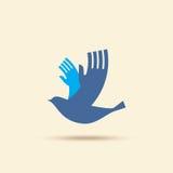 Creative bird with hand  creative idea Stock Photo