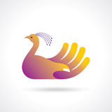 Creative bird with hand creative idea Stock Photo