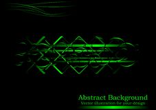Creative black-green abstract background. (horizontal position Royalty Free Stock Image