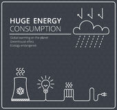 Creative black vector background electricity. Business, slim design idea Stock Photo