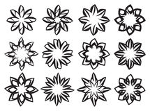 Creative Black and White Floral Design Element Royalty Free Stock Photography
