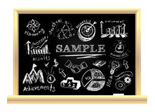 Creative blackboard idea Royalty Free Stock Image