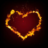 Creative blazing heart Royalty Free Stock Photography