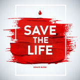 Creative Blood Donor Day motivation information donor poster. Bl Royalty Free Stock Image