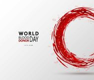 Creative Blood Donor Day motivation information donor poster. Vector illustration of Donate blood concept for World. Blood donor day-June 14. Medical design Stock Photography