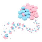 Creative Blue And Pink Pills Stock Photography