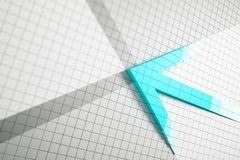 Creative blue arrow on white grid royalty free illustration