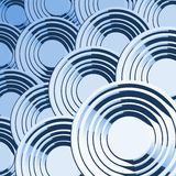 Creative blue circles composition Stock Photography