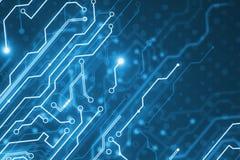 Creative blue circuit background royalty free illustration