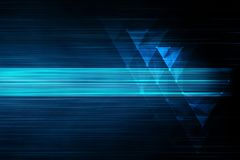 Blue techno lines background Stock Photography