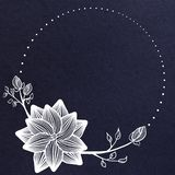 Creative blue floral banner royalty free illustration