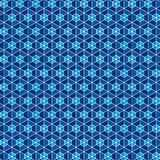 Creative blue hexagon pattern Royalty Free Stock Images