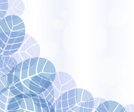 Creative blue leaves background Stock Image