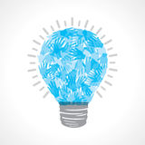 Creative blue light-bulb Stock Photography