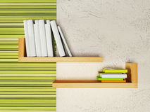 Creative bookshelf  on the wall Royalty Free Stock Photo