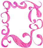 Creative border with clipping paths. Pink textured creative border with clipping paths Stock Photo