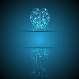 Creative brain on abstract paper digital concept background Stock Photo