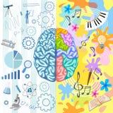 Creative Brain Composition vector illustration