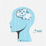 Creative brain concept background. Stock Photography