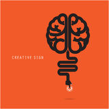 Creative brain concept. Business and education concept. Royalty Free Stock Images