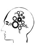 Creative brain and gears Royalty Free Stock Image
