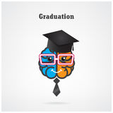 Creative brain graduation concept Royalty Free Stock Image