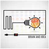 Creative brain Idea concept background Stock Photo