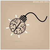 Creative brain Idea concept background. Design for poster flyer cover brochure ,business dea ,abstract background. illustration Stock Photos