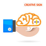 Creative brain Idea concept background. Design for poster flyer cover brochure ,business dea ,abstract background. illustration Royalty Free Illustration