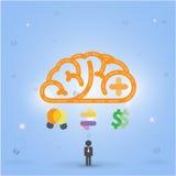 Creative brain Idea concept background Royalty Free Stock Photos