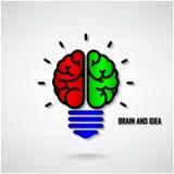 Creative brain Idea concept background Stock Photo
