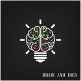 Creative brain Idea concept background design Royalty Free Stock Photos