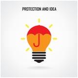 Creative brain Idea concept background design Royalty Free Stock Photo