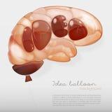 Creative brain Idea concept background Royalty Free Stock Photography