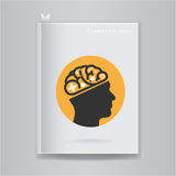 Creative brain Idea concept on blank book cover Stock Photography