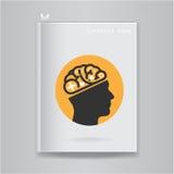 Creative brain Idea concept on blank book cover Stock Photography