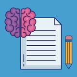 Creative brain idea concept. Vector illustration design Royalty Free Stock Images