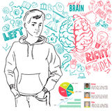 Creative brain Idea. Vector concept. Stock Image