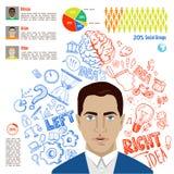Creative brain Idea. Vector concept. Royalty Free Stock Photo