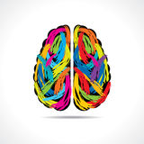 Creative brain with paint strokes. Stock vector Stock Image