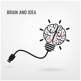 Creative brain symbol Royalty Free Stock Image