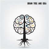 Creative brain tree shape sign Stock Photos