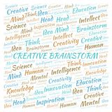 Creative Brainstorm word cloud stock illustration