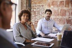 Creative Brainstorming Meeting In Design Office Stock Image